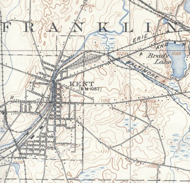 Kent USGS Topographic Map 1906