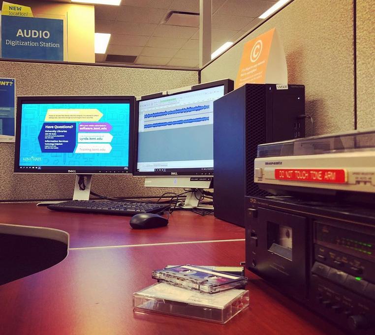 Audio digitization station at the Student Multimedia Studio
