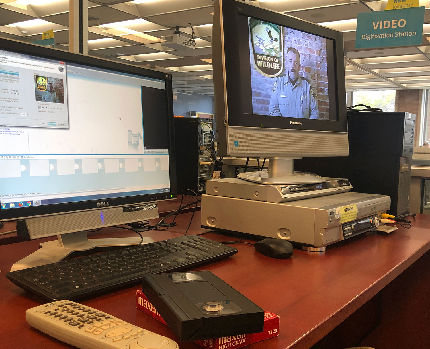 Video digitization station in the Student Multimedia Studio