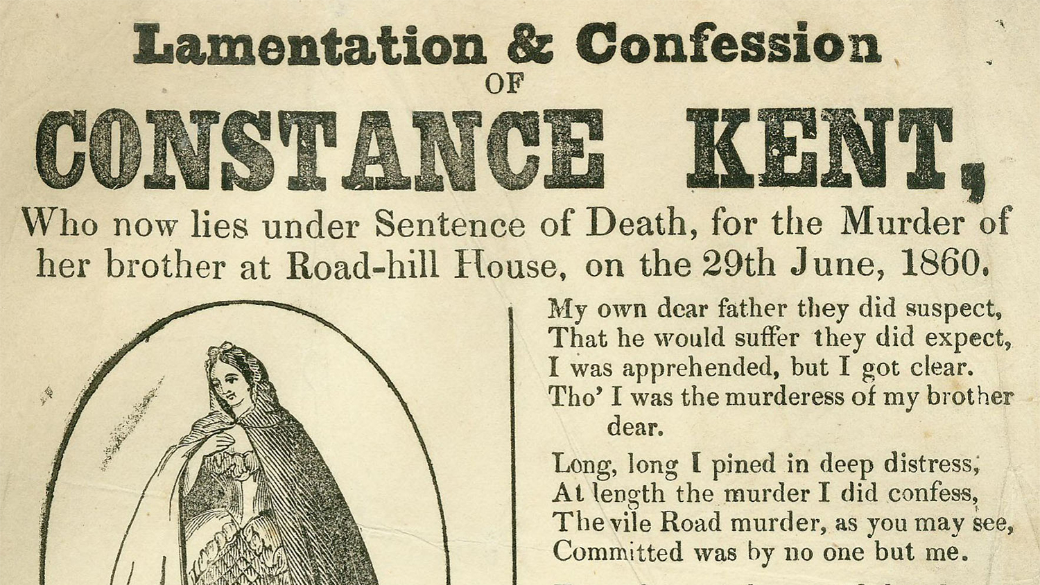 Image from a broadside regarding Constance Kent case