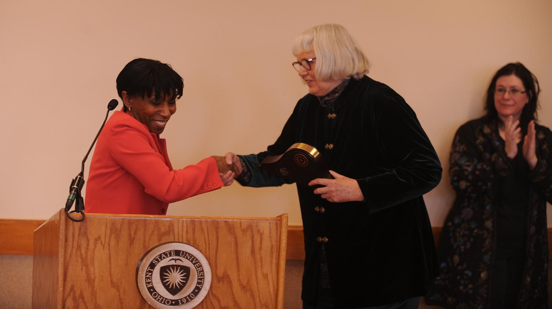 Dolores Noll (center) awarded inaugural Diversity Trailblazer Award (2010).