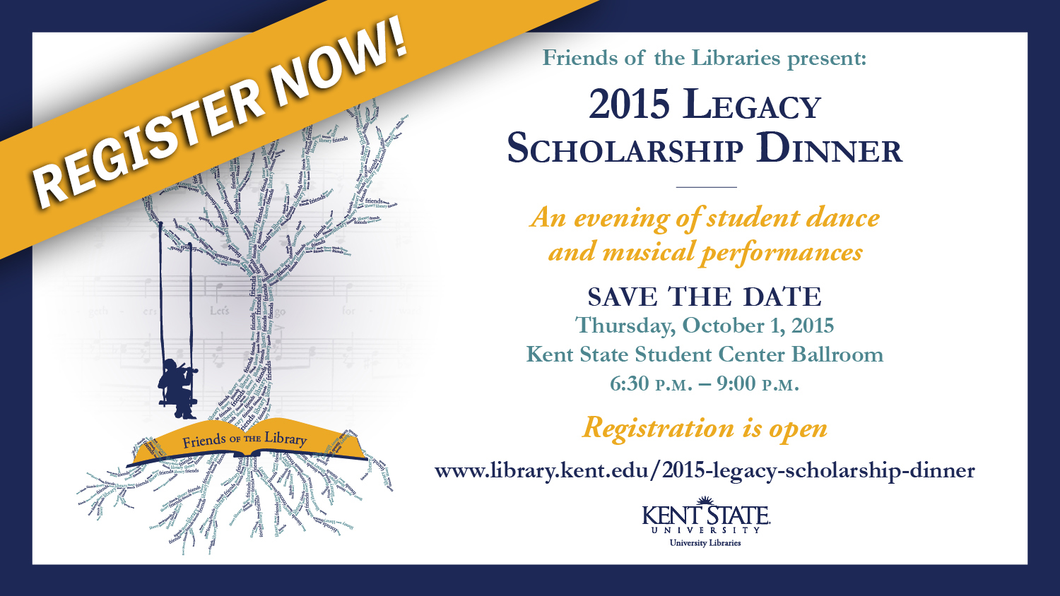 Show more about The Friends of the Libraries, Legacy Scholarship Dinner