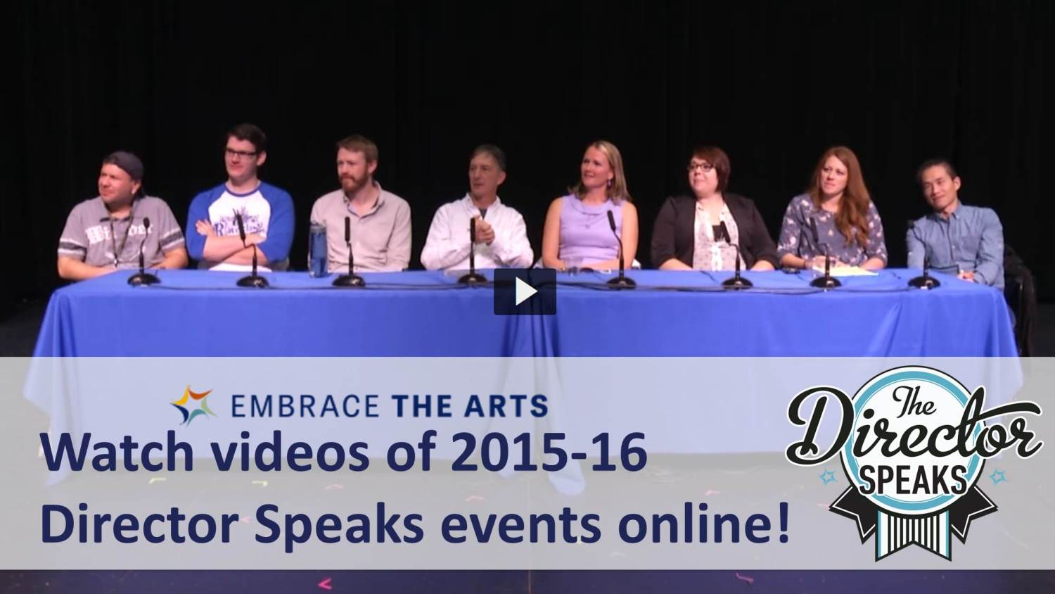 Show more about Did you miss one of our Director Speaks Events? You can watch them online!