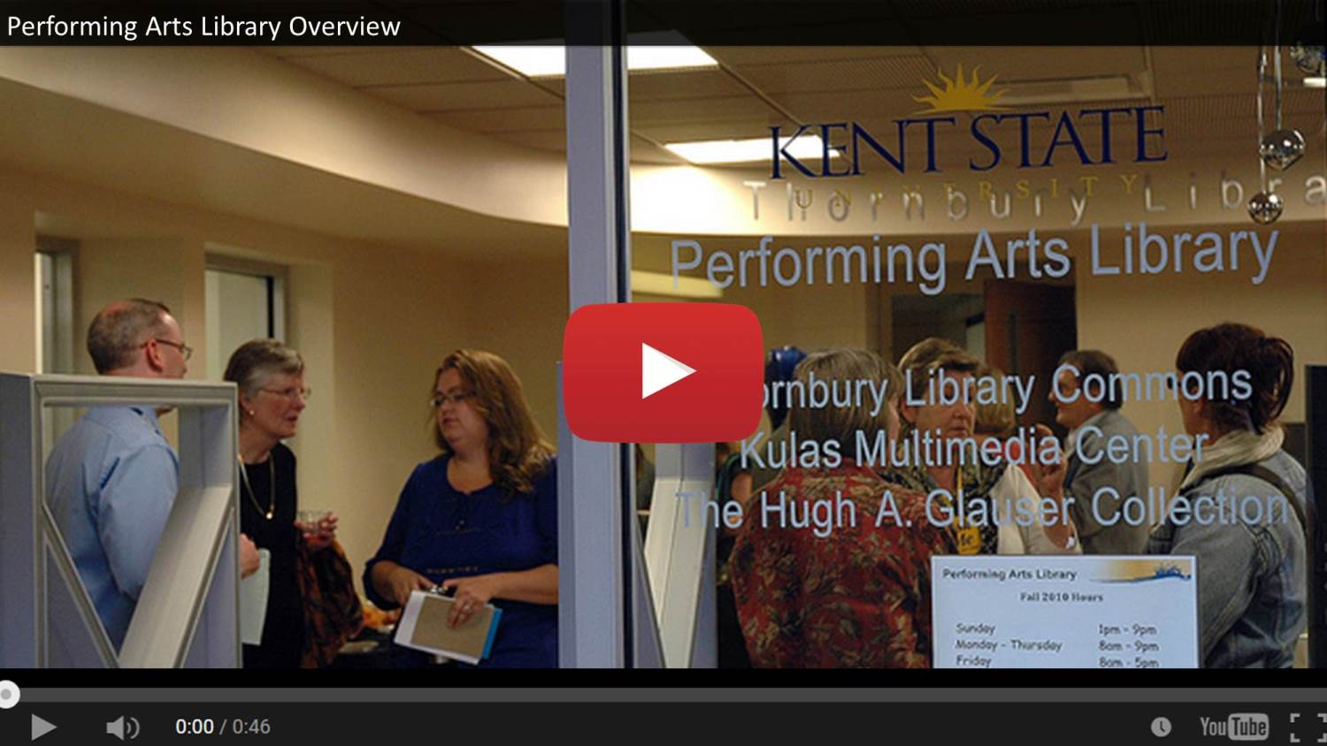 Show more about Video Overview of Performing Arts Library Spaces and Services