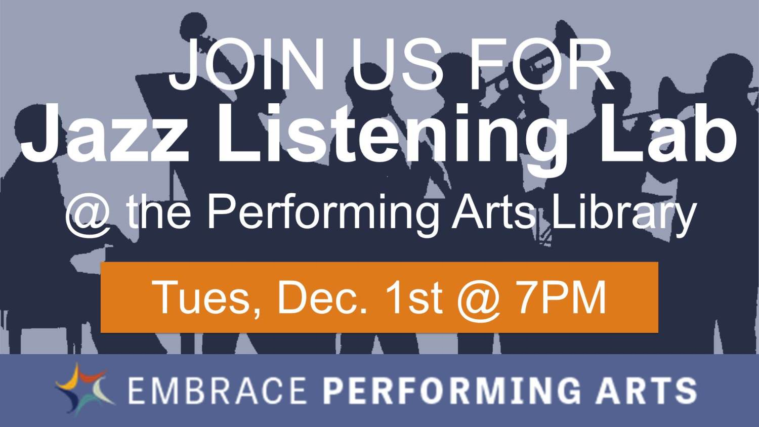 Show more about Come listen and talk about jazz music!