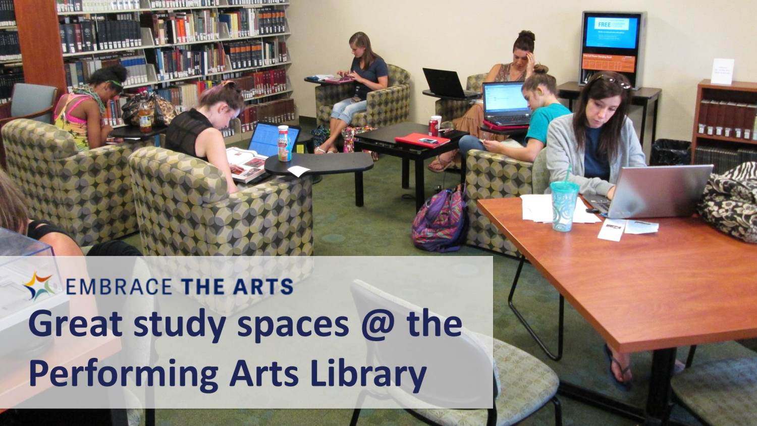 Show more about Study spaces at the Performing Arts Library