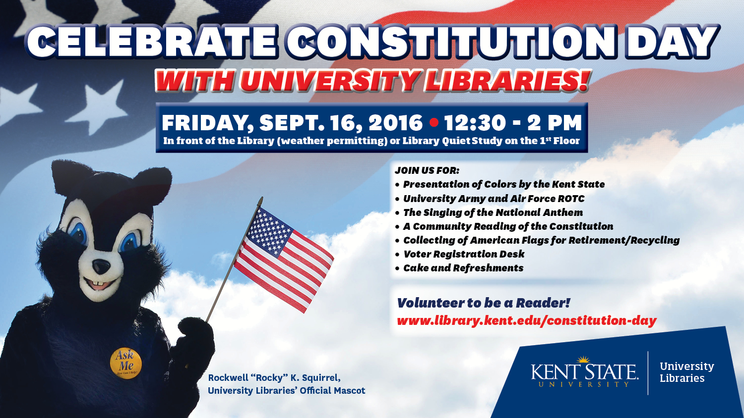 Show more about Please join us as we celebrate Constitution Day 2016 on Friday, September 16.
