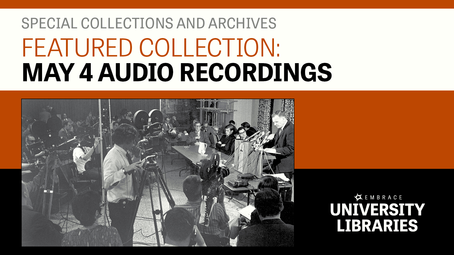 Show more about 80 audio recordings related to the Kent State shootings have recently been digitized and are now available online.