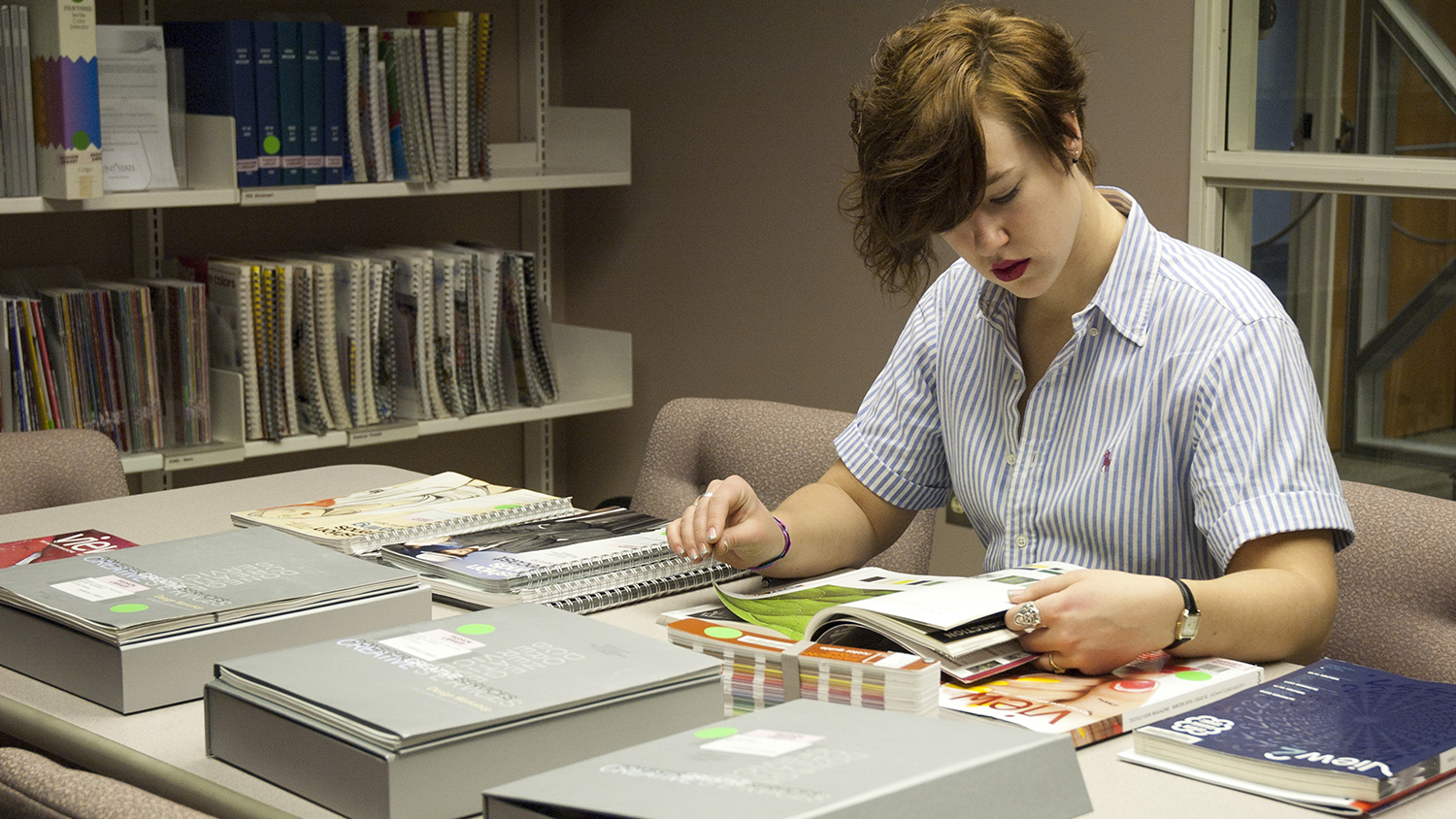 Student in Materials Room