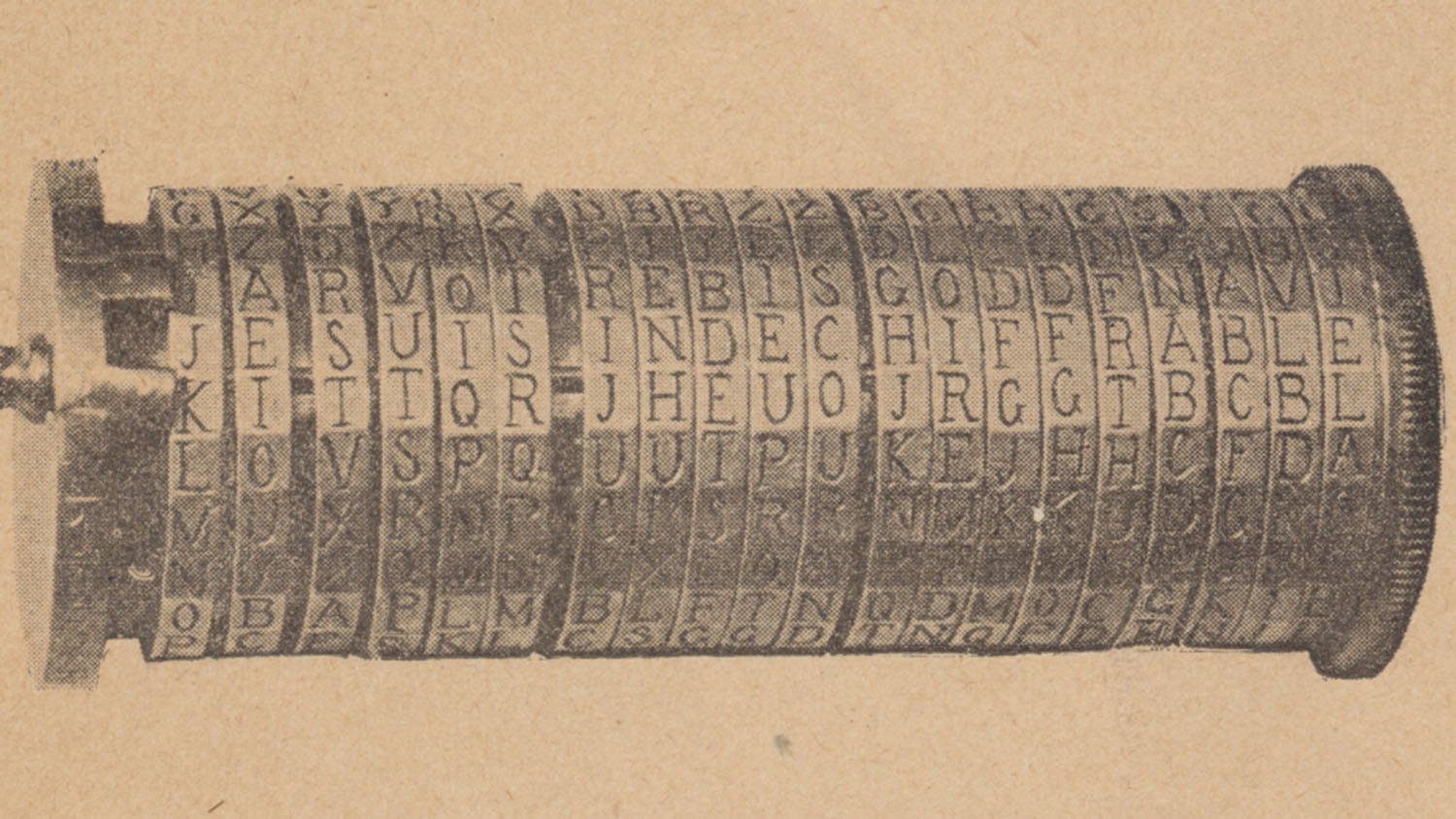 Show more about Cipher cylinder designed by Etienne Bazeries, 1890