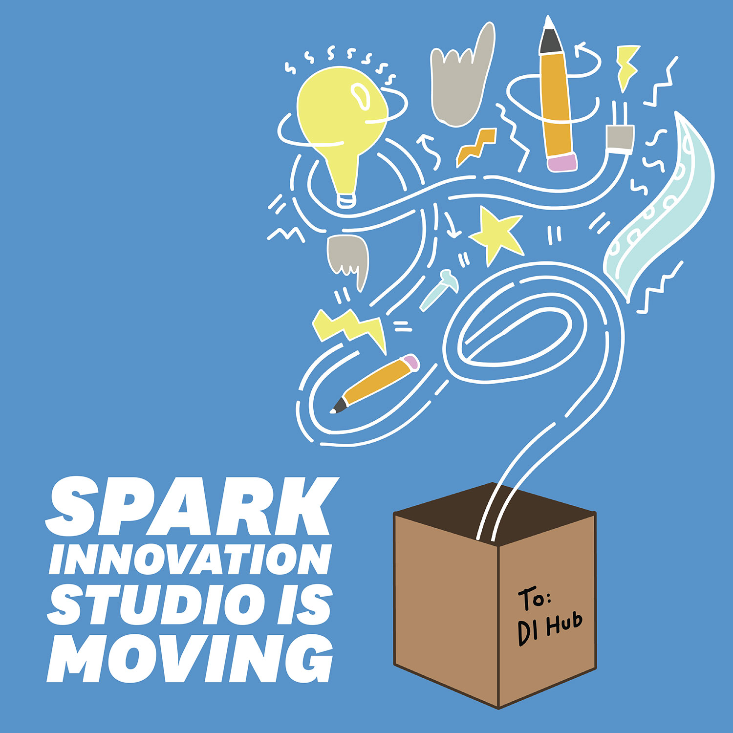 Spark is moving to the DI Hub and will reopen this fall as SparkLab, a makerspace under DI