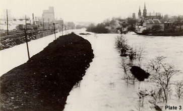 View of Flood from Crain Avenue Bridge