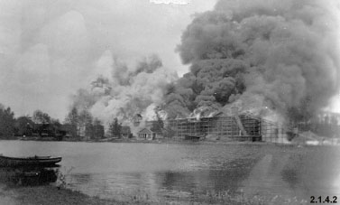 Photograph of Brady Lake Ice House Fire [June 6, 1924]