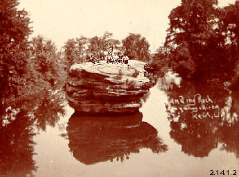 Photograph of Standing Rock in the Cuyahoga River