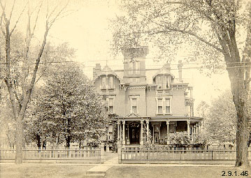Photograph of Kent Home, corner of W. Main and N. Mantua