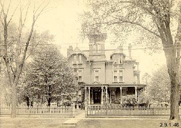 Photograph of Kent Home, corner of W. Main and N. Mantua
