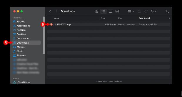 macOS Downloads folder
