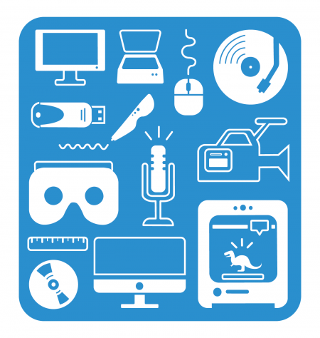icons representing the technology that's available at the SMS
