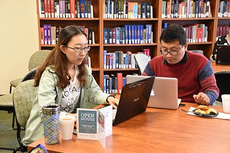 Students Studying at the Performing Arts Library