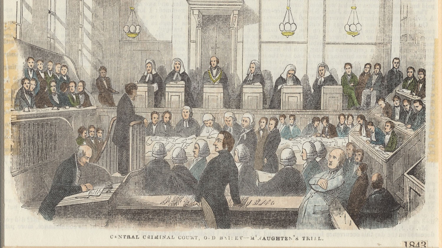 Illustration of M'Naghten Trial of 1843, from Illustrated London News
